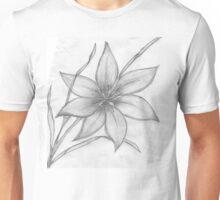 Lily,Pencil Drawing,  Unisex T-Shirt