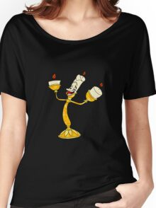 Lumiere Mosaic on Black Women's Relaxed Fit T-Shirt