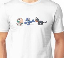 Rowlet Popplio and Litten - Sun/Moon Starters Unisex T-Shirt