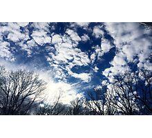 Snow Day Sky Photographic Print