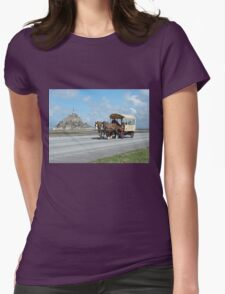 Horse & Carriage - Mont St. Michel, Normandy, France Womens Fitted T-Shirt