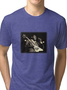 He'll Play The Blues For You! Tri-blend T-Shirt