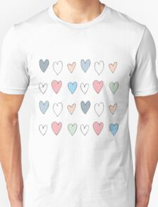 Colorful hearts pattern Unisex T-Shirt