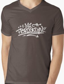 Brooklyn Graffiti Mens V-Neck T-Shirt