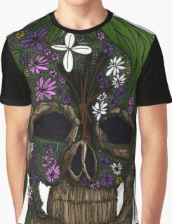Plant Skull Graphic T-Shirt