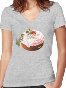 Furry Opportunists Women's Fitted V-Neck T-Shirt