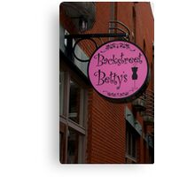 Backstreet Betty's Boutique Sign Canvas Print