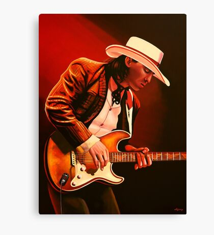 Stevie Ray Vaughan painting Canvas Print