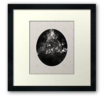 God's Window - Space In Black And White Framed Print