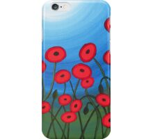 A Field of Poppies iPhone Case/Skin