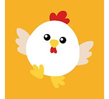 Happy Chicken - No Text Photographic Print
