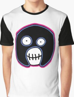 The Mighty Boosh –  Blue & Pink Mask Graphic T-Shirt