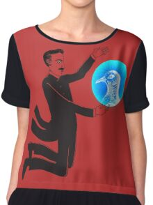 Tesla and the Pigeon Women's Chiffon Top