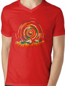 Geometry Sunrise Last Man On Earth Mountain Shirt Mens V-Neck T-Shirt