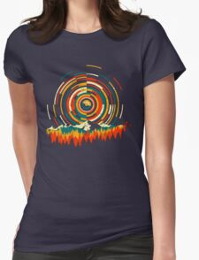 Geometry Sunrise Last Man On Earth Mountain Shirt Womens Fitted T-Shirt