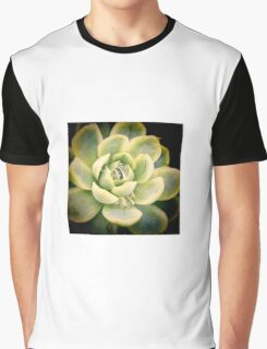 Water droplets on succulent Graphic T-Shirt