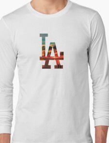 LA Beach White Long Sleeve T-Shirt