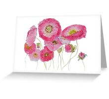 Pink Poppies painting Greeting Card