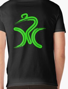 Green Bike by Peter Hunt Mens V-Neck T-Shirt