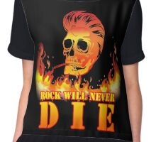 Rock will never die Chiffon Top