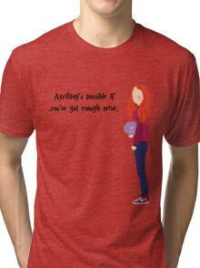 Ginny Weasley - Anything's possible if you've got enough nerve. Tri-blend T-Shirt