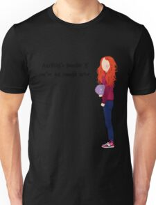 Ginny Weasley - Anything's possible if you've got enough nerve. Unisex T-Shirt
