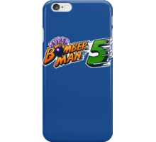 Super Bomberman 5 logotype iPhone Case/Skin