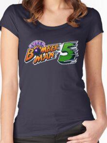 Super Bomberman 5 logotype Women's Fitted Scoop T-Shirt