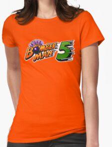 Super Bomberman 5 logotype Womens Fitted T-Shirt