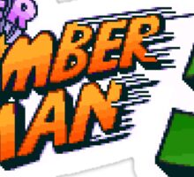 Super Bomberman 5 logotype Sticker