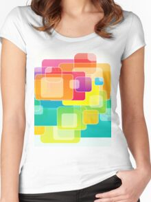 Colour Square Women's Fitted Scoop T-Shirt