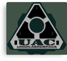 UAC Mint Green Logo Canvas Print