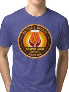 Anaphylaxis - Manuka Smoked Black IPA w/ chipotle Tri-blend T-Shirt