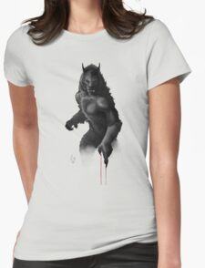 Stare Down Womens Fitted T-Shirt