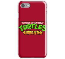 TMNT Turtles In Time logotype iPhone Case/Skin