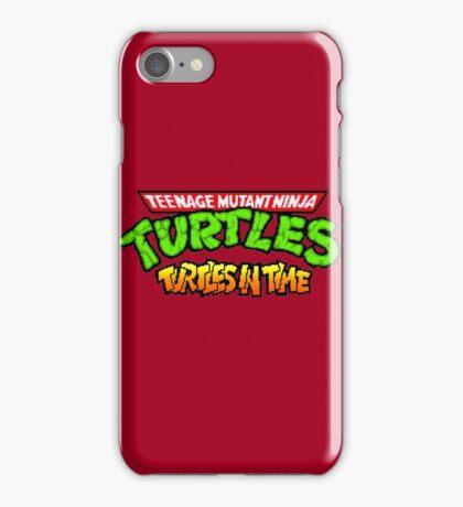 TMNT Turtles In Time logotype iPhone Case/Skin