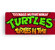 TMNT Turtles In Time logotype Canvas Print