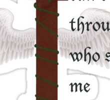 I can do all things through Christ who strengthens me 4:13 Sticker