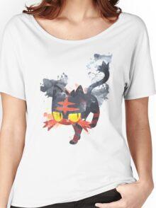 Litten Watercolor Women's Relaxed Fit T-Shirt