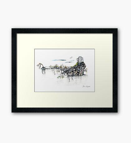 Castle Get Away Framed Print