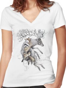 protect our wildlife  Women's Fitted V-Neck T-Shirt