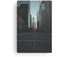 A look down Broadway Canvas Print