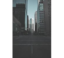 A look down Broadway Photographic Print