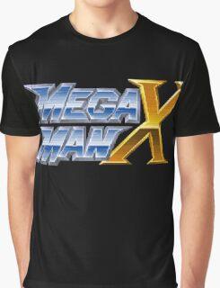 Megaman X logotype Graphic T-Shirt