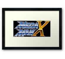 Megaman X logotype Framed Print