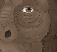 Portrait of Australopithecus afarensis Sticker