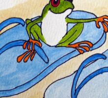 Frog is Ready for Summer Sticker
