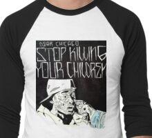 Limpio - Stop the Violence Chicago Men's Baseball ¾ T-Shirt