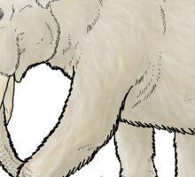 The white mammoth Sticker