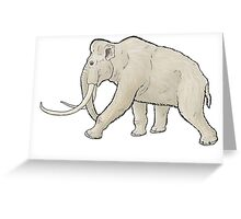 The white mammoth Greeting Card